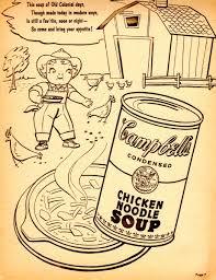Campbells Chicken Noodle Soup Coloring Book Super Market Contest