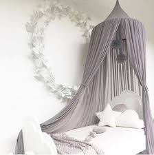 Ins Girls Princess Canopy Bed Curtain Canopy Kids Room Decoration Baby Round Mosquito Net Tent Curtains Children Crib Netting