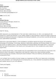 Best Ideas Of Medical Technologist Sample Resume Cover Letter Resume