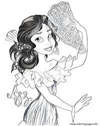 We have princess elena, isabel. Elena Of Avalor Princess Disney Bal Coloring Pages Printable