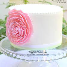 Ruffles Cake Design How To Make A Fondant Ruffle Rose Free Cake Tutorial My