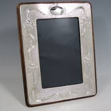 silver antique picture frames. Antique Edwardian Sterling Silver Art Nouveau Photograph Frame, Having A Hand-made Rectangular Portrait Picture Frames P
