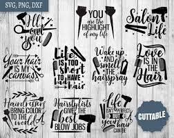 Hairstylist Quotes New Hairdresser SVG Bundle Hairstylist Svg Pack Cut Files 48 Etsy