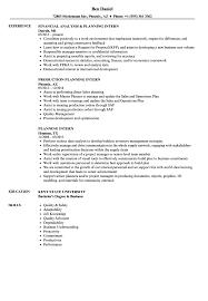 Planning Intern Resume Samples Velvet Jobs
