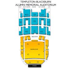 The Venue Athens Ohio Seating Chart Templeton Blackburn Alumni Memorial Auditorium 2019 Seating