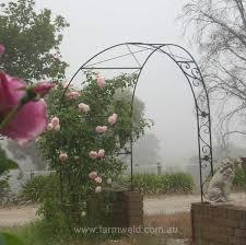 asymmetrical garden arch