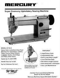Mercury Industrial Sewing Machine