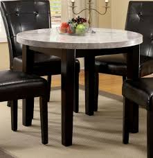 furniture of america cm3866rt marion i contemporary 40 inch espresso finish marble top round dining table
