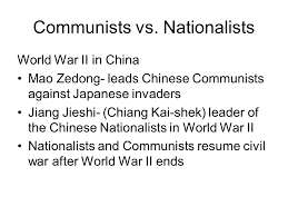 Chapter 33 Section 2 Communists Take Power In China Ppt