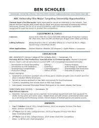 Internship Resume Sample Monster Stunning Film Production Resume