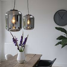 set of 2 design hanging lamps black
