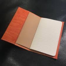 moleskine leather cover olmo veg tan leather