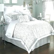 damask comforter sets white and black queen king size bedding red off set