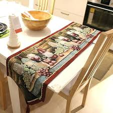 table runner luxury g and wine red jacquard table runner home table decoration with tassel table runner