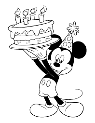 This can be an excellent greeting card for his nana's birthday. Mickey Mouse Birthday Coloring Page Disney Lol