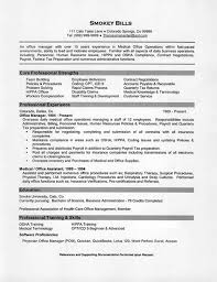 Medical Office Manager Resume Example core professional strengths