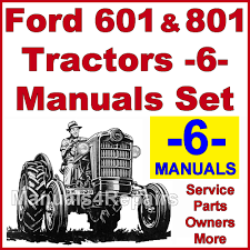 ford 601 801 tractor service parts catalog owners manual 6 manu pay for ford 601 801 tractor service parts catalog owners manual 6