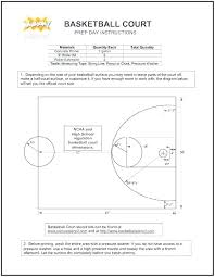 Basketball Half Court Dimensions Layout Template