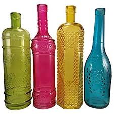 Decorative Colored Glass Bottles Amazon Decorative Colored Vintage Glass Bottles for Bottle 1