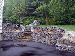 concrete patio retaining walls nh backyard