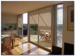 sliding glass doors in kitchen
