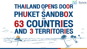 Thailand opens door to Phuket Sandbox for 63 countries and 3 territories