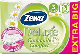 Купить <b>Бумага туалетная ZEWA Deluxe</b> Deluxe Ромашка, 3-х ...