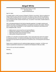 10 Cover Letter Accounting Internship Letter Signature
