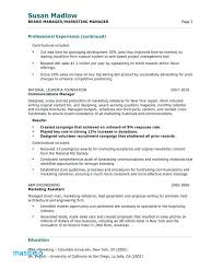Free Resume Examples Custom Brand Manager Resume Examples Sample Resume Marketing Marketing