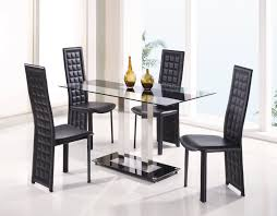 fascinating dining room sets modern gl top modern gl dining table and leather chairs
