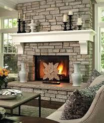 natural stone fireplace mantel shelves interiors