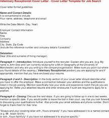 Cover Letter Examples Veterinary Receptionist Paulkmaloney Com