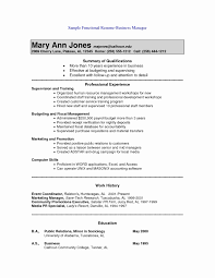 Combination Resume Template Fresh Archaicawful Fast Food Resume