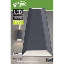 EX LED Exterior UpDown Wall Light Roxburg - Exterior up down lights