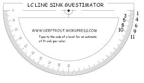 Lead Core Sink Per Color Guestimator Deep Trout