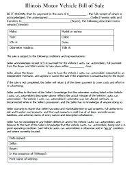 Simple Vehicle Bill Of Sale Template Car Sale Template Blank Bill Of Sale Template Luxury Free Motor