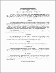 Limited Partnership Agreement Template Silent Partnership Agreement Template Awesome General Partnership