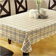 table plastic cover table cloth plastic waterproof dining tablecloth plaid printed table cover overlay printed plastic table covers with elastic edge black