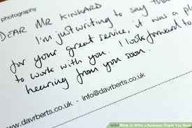 Thank You Notes To Boss Fascinating How To Write A Business Thank You Note With Sample Notes