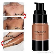 dhl handaiyan dark skin base covers face foundation makeup full coverage cream concealer base make up liquid contour cosmetic makeup foundation matte