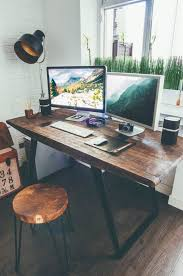 industrial home furniture. Another Industrial Home Office Idea Is This One - Using Mainly Style Furniture With Dark Wood And Metal Legs, But Then Pairing It A More