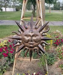 sun wall decor metal garden decor