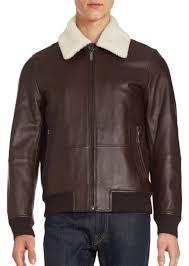 lamb wool lined leather er jacket
