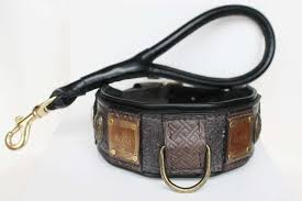 padded leather dog collar handmade by work sauri