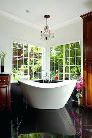 chandelier over tub good looking tub in bathroom contemporary with best bathtub next to chandelier over chandelier over tub