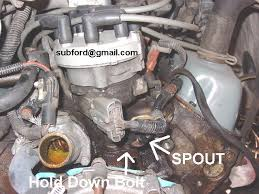 removing and installing a distributor ford truck enthusiasts forums spout location