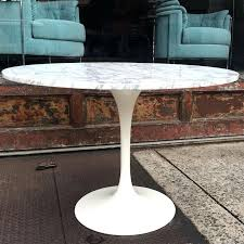mid century modern round table mid century modern tulip base dining table with round marble top