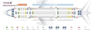 Airbus A330 Jet Airways Seating Chart Seat Map Airbus A330 200 Qatar Airways Best Seats In The Plane
