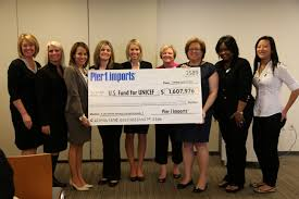 Image Customer Relations Pictured Unicef Usa Celebrating Pier Imports Commitment To The Worlds Children