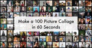 make a 100 photo collage in 60 seconds
